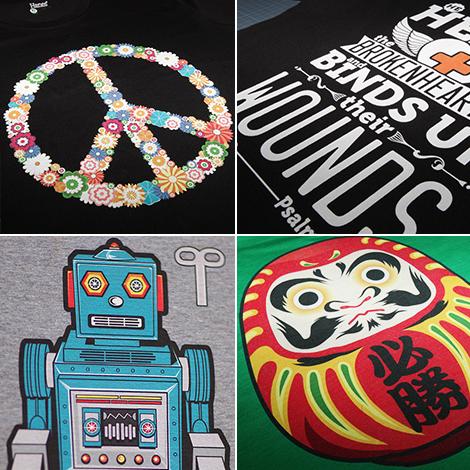 Прямая цифровая печать на цветных футболках от Printdirect